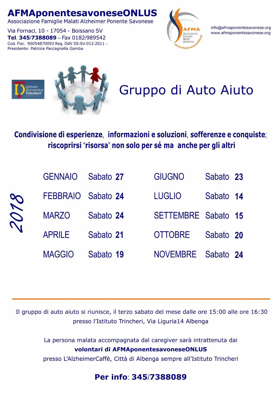 Volantino AA 2018 con date